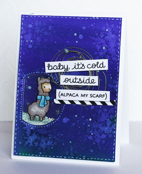 Maya Isaksson Design in papers lawnfawn winter card 2