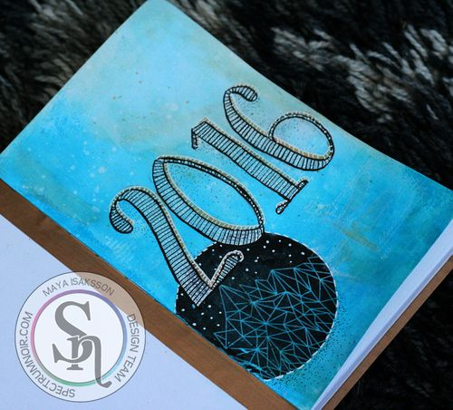 Maya Isaksson Spectrum Noir art journal watermarked