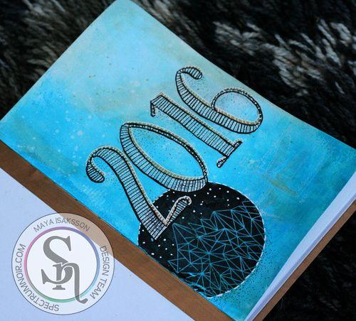Maya Isaksson Spectrum Noir art journal watermarked