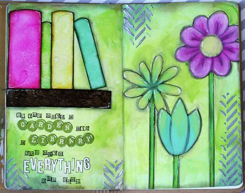 Maya isaksson art journal garden and library