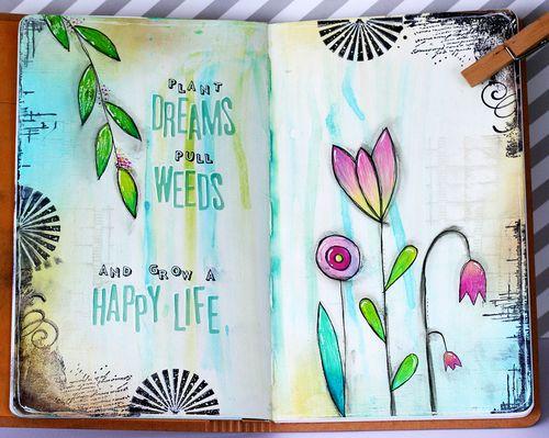 Maya isaksson art journal garden and library
