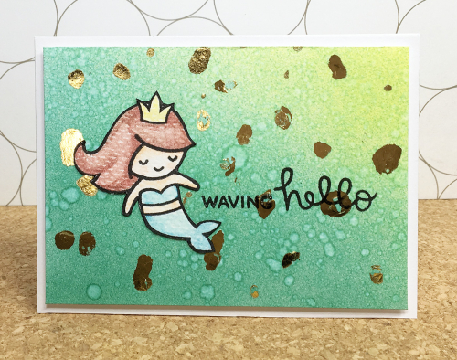 Maya isaksson design in papers minc lawn fawn mermaid