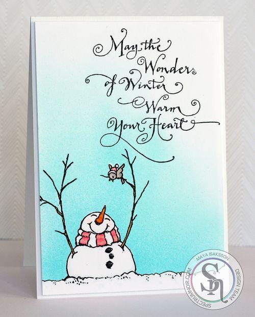 Maya Isaksson Spectrum Noir snowman watermarked